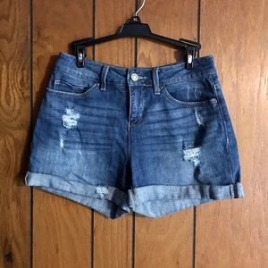 Time and Tru Distressed Jean Shorts